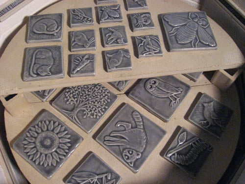 handmade tiles gray glaze