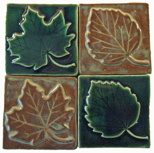 Leaf Handmade Ceramic Tiles