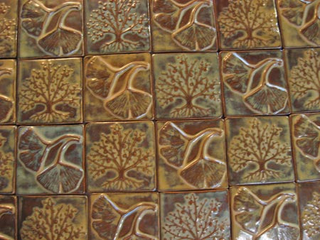 Leaves Hand Made Ceramic Tiles