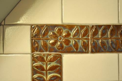 Handmade Tile Border in Subway Tiles
