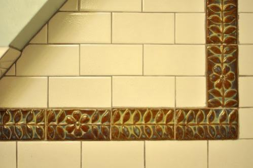 Bathroom Subways Tile with Hand-Made Tile Borders