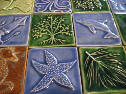handmade tiles for the BAYarts holiday shop and gallery