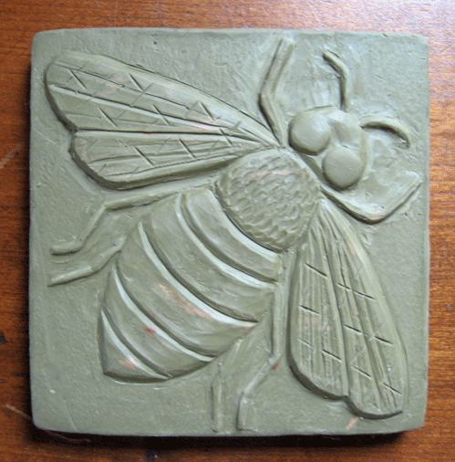 Ceramic Bee Handmade Tile