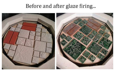 glazing handmade tiles
