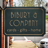 sign for bibury and company shop in downtown mantua ohio