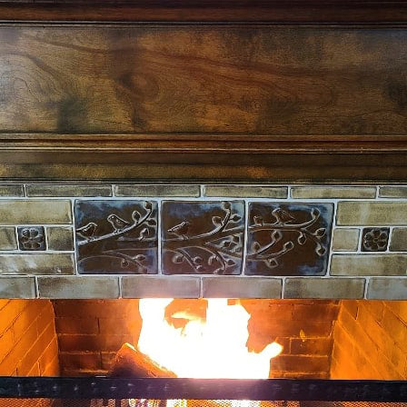 close up of handmade tile hearth