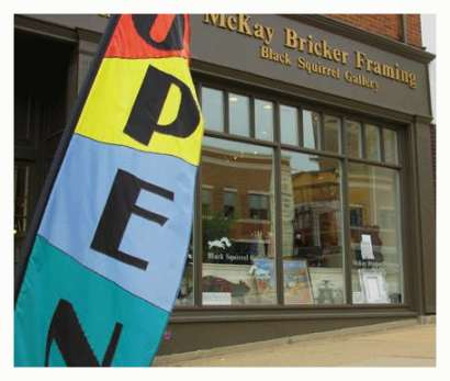 Exterior of Black Squirrel Gallery/ McKay Bricker Gallery & Framing in Kent, Ohio
