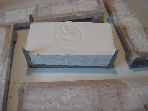 making a mold of a handmade tile