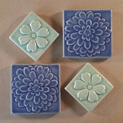Flower Handmade Ceramic Tiles