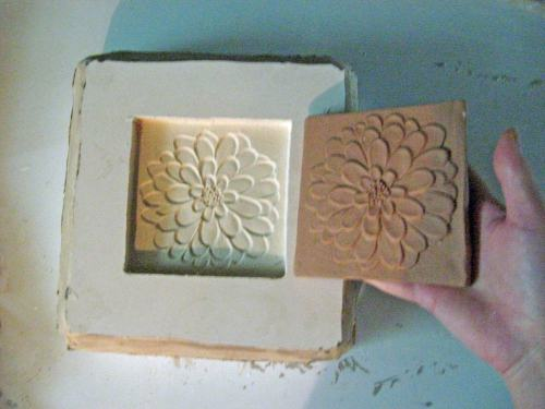 Handmade Ceramic Tile Mold Making