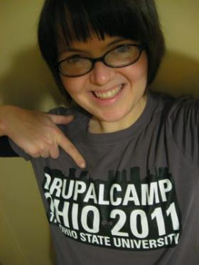 me in a drupal camp ohio t-shirt
