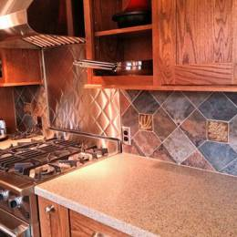 handmade tile with slate in a kitchen