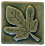 Fig Leaf Ceramic Handmade Tile