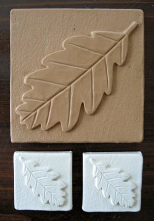 Ceramic Hand Made Tile Design for Leaves