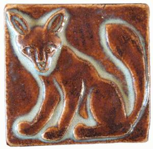 Fox Ceramic Hand Made Tile