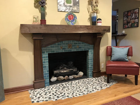 Handmade Tile Craftsman style hearth