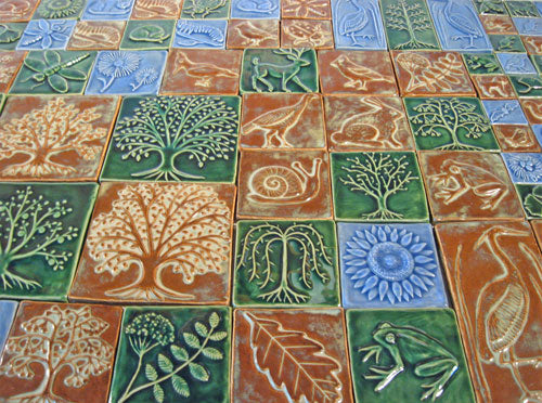 Nature Inspired Ceramic Handmade Tile Art