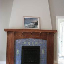 Handmade Tile Fireplace Idea