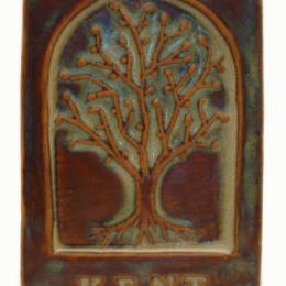 Kent Ohio Tree Tile 4x6 Handmade Ceramic Art Tile Autumn Glaze