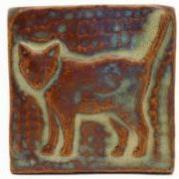 Cat handmade tile