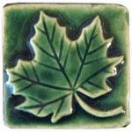 Maple Leaf Handmade Ceramic Tile