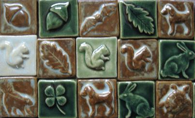 Holiday Ceramic Handmade Tiles