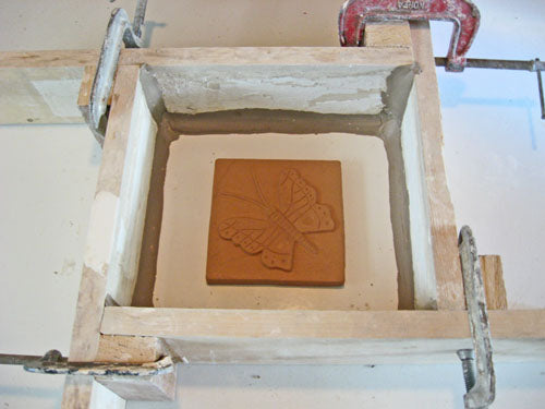 handmade tile mold making process part one