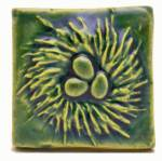 Nest 2x2 Ceramic Handmade Tile Leaf Green Glaze