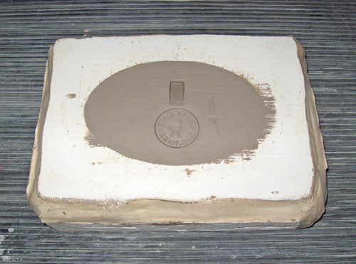 Oval Handmade Tile in Plaster Mold