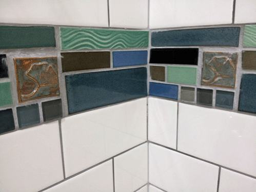 Idea for Handmade Ceramic Tile Bathroom Shower