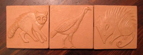 Handmade Ceramic Tile Animal Designs