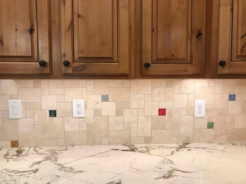 handmade tiles in a kitchen backsplash