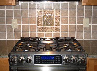 Kitchen Backsplash with Handmade Ceramic Tiles 1