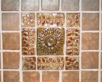 Kitchen Backsplash with Handmade Ceramic Tiles 2