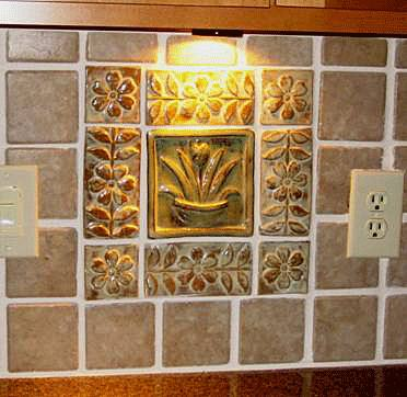 Kitchen Backsplash with Handmade Ceramic Tiles 3