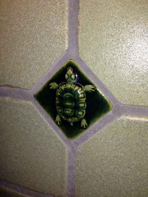 Turtle Ceramic Handmade Tile