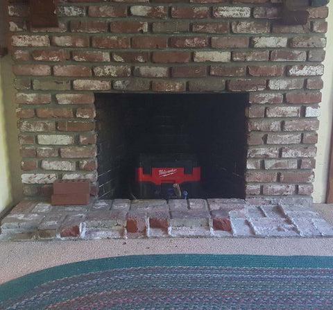 fireplace before picture