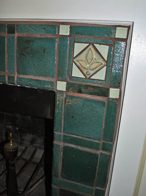 Fireplace Surround, Handmade Tile Detail