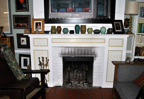 Fireplace Surround, with Ceramic Handmade Tiles