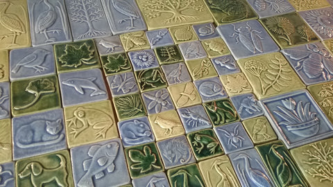 handmade tiles for Holden arboretum show