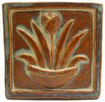 Tulip 6x6 Handmade Ceramic Art Tile Autumn Glaze