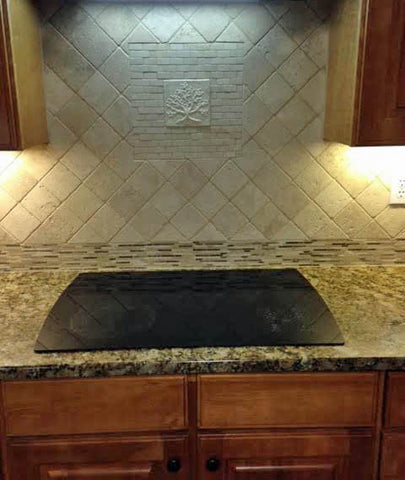 handmade tile in a kitchen backsplash