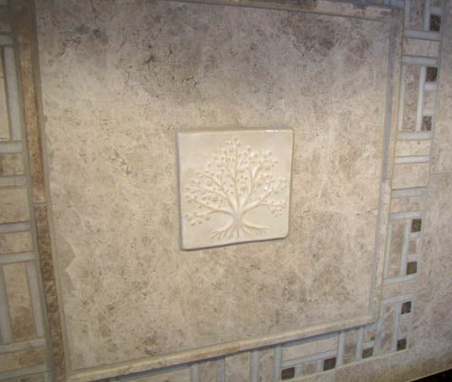 Tree of Life Handmade Tile Kitchen Back-splash 4