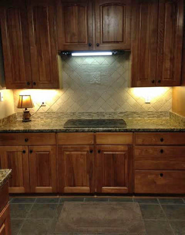 handmade tile kitchen back splash white