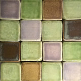 "2""x2"" Ceramic Handmade Field Tile -multicolored glaze grouping"