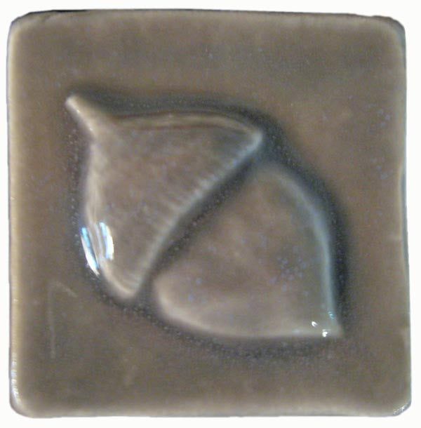 Acorn X Ceramic Handmade Tile Inch By Inch Handmade Tiles - 2 x 2 inch ceramic tiles