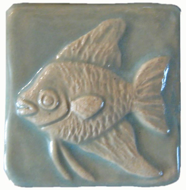 Angelfish X Ceramic Handmade Tile Inch By Inch Handmade Tiles - 2 x 2 inch ceramic tiles