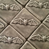 "Bat 2""x2"" Ceramic Handmade Tile"
