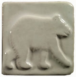 "Bear 2""x2"" Ceramic Handmade Tile - White Glaze"