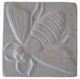 "Honey Bee 4""x4"" Ceramic Handmade Tile - White Glaze"